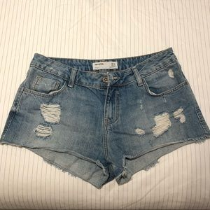 Zara denim cut off shorts